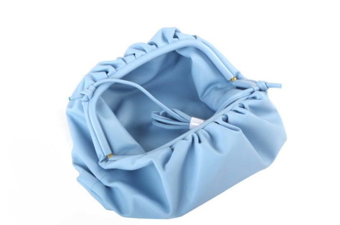 Ice Blue Genuine Leather woman bags