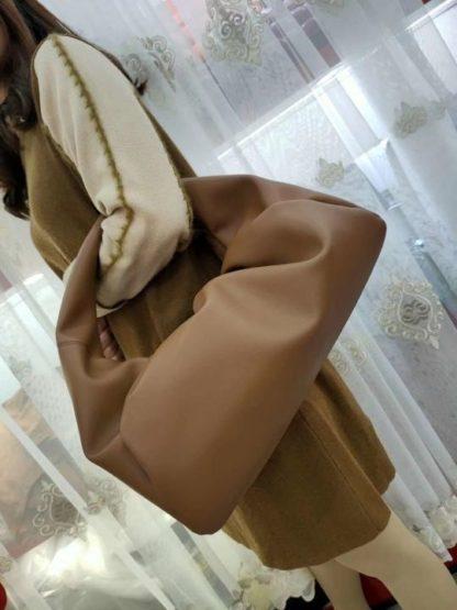 Ruched hobo bag