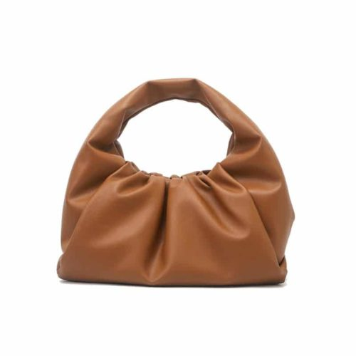 Ruched hobo bag