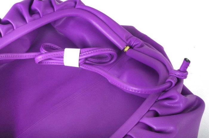 Ruched Clutch Sling Bag Purple