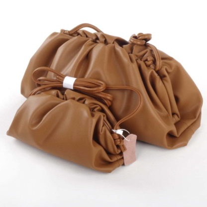 Brown Dumpling Clutch bag handbags