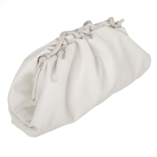 White dumpling Clutch Bag
