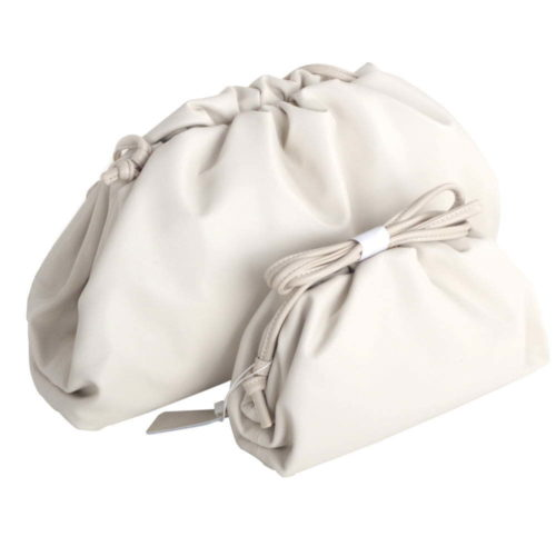 Cream Pouch leather clutch