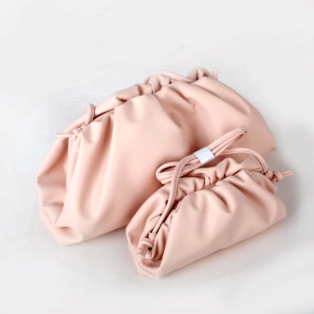 slouchy pillow clutch bag