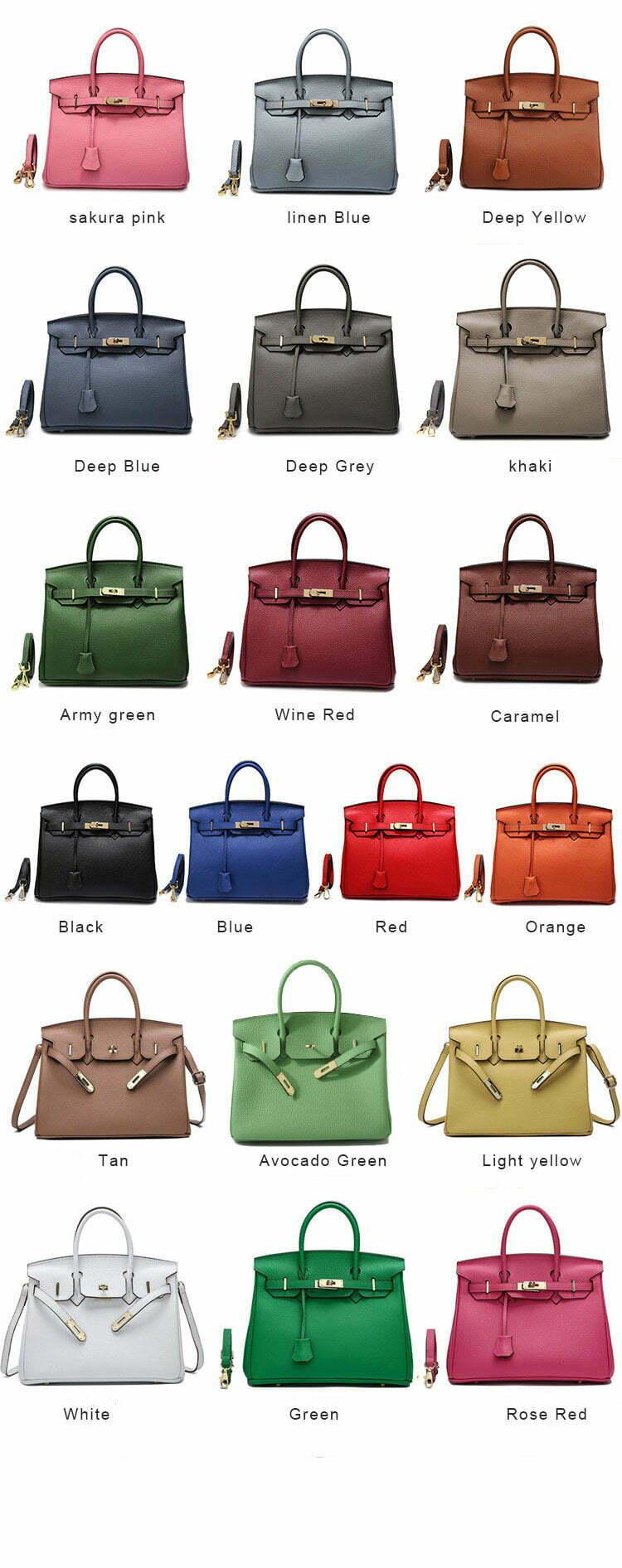 Birkin handbag color collection
